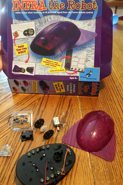 Kids learn about robotics in this simple kit from The Young Scientists Club. The fun Infra robot engages and teaches kids 8+.