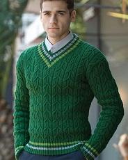 Пуловер для мужчины спицами