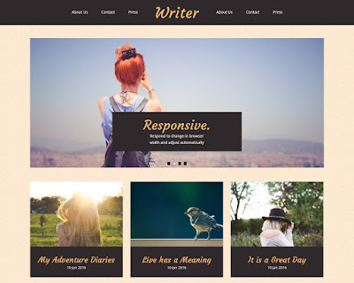 Visualartzi free blogger template for minimal classic blogspot look from templateism for free screenshot of women on blogger post