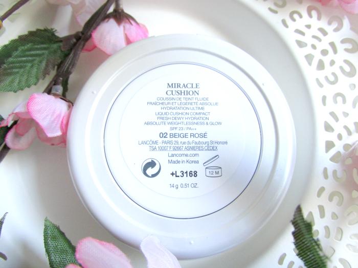 Refill und Inhaltsstoffe Lancôme Miracle Cushion Foundation - 02 Beige Rosé -14g - ab 40.00 Euro