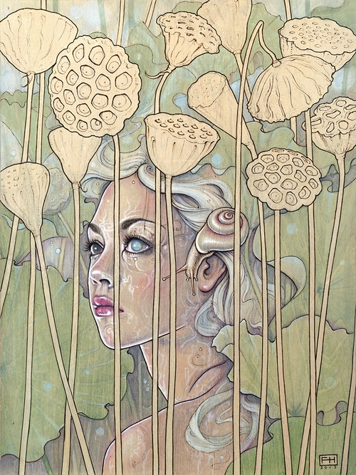 16-Plant-Nymphs-Nelumbo-Lotus-Fay-Helfer-Pyrography-Game-of-Thrones-and-other-Paintings-www-designstack-co