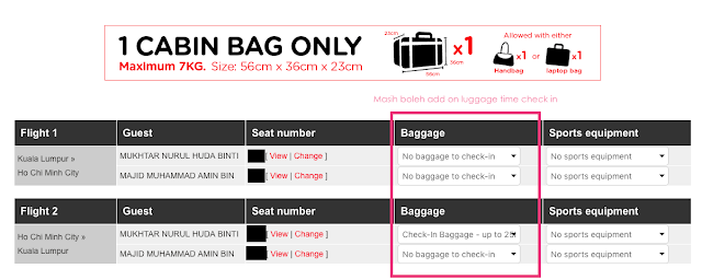 how to change airasia ticket online