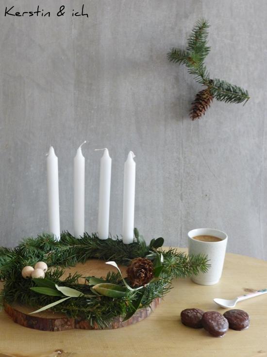 DIY Adventskranz schlicht und minimalistisch