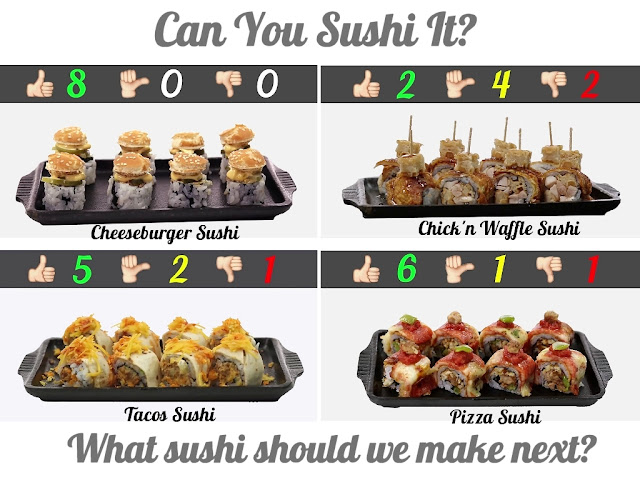 BIOVEGAN PORTUGAL ® A TASTE OF JAPAN - POSTER 012 - CAN YOU SUSHI IT - THE TRYOUT SCORES