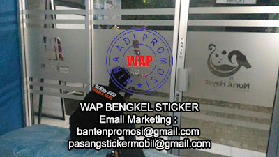 Cutting Sticker Sandblast Tangerang