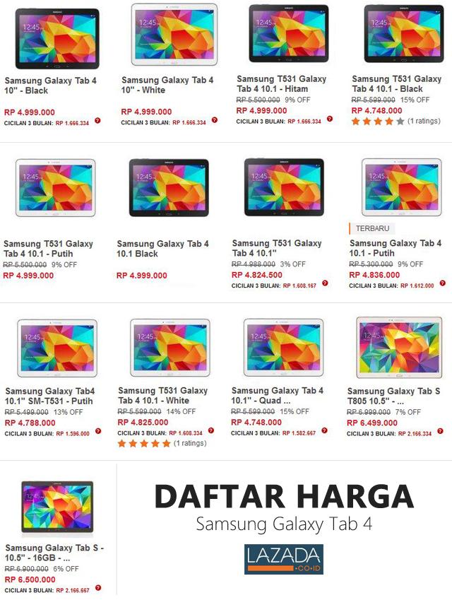 """Harga Samsung Galaxy Tab 4 - 10.1"""""""