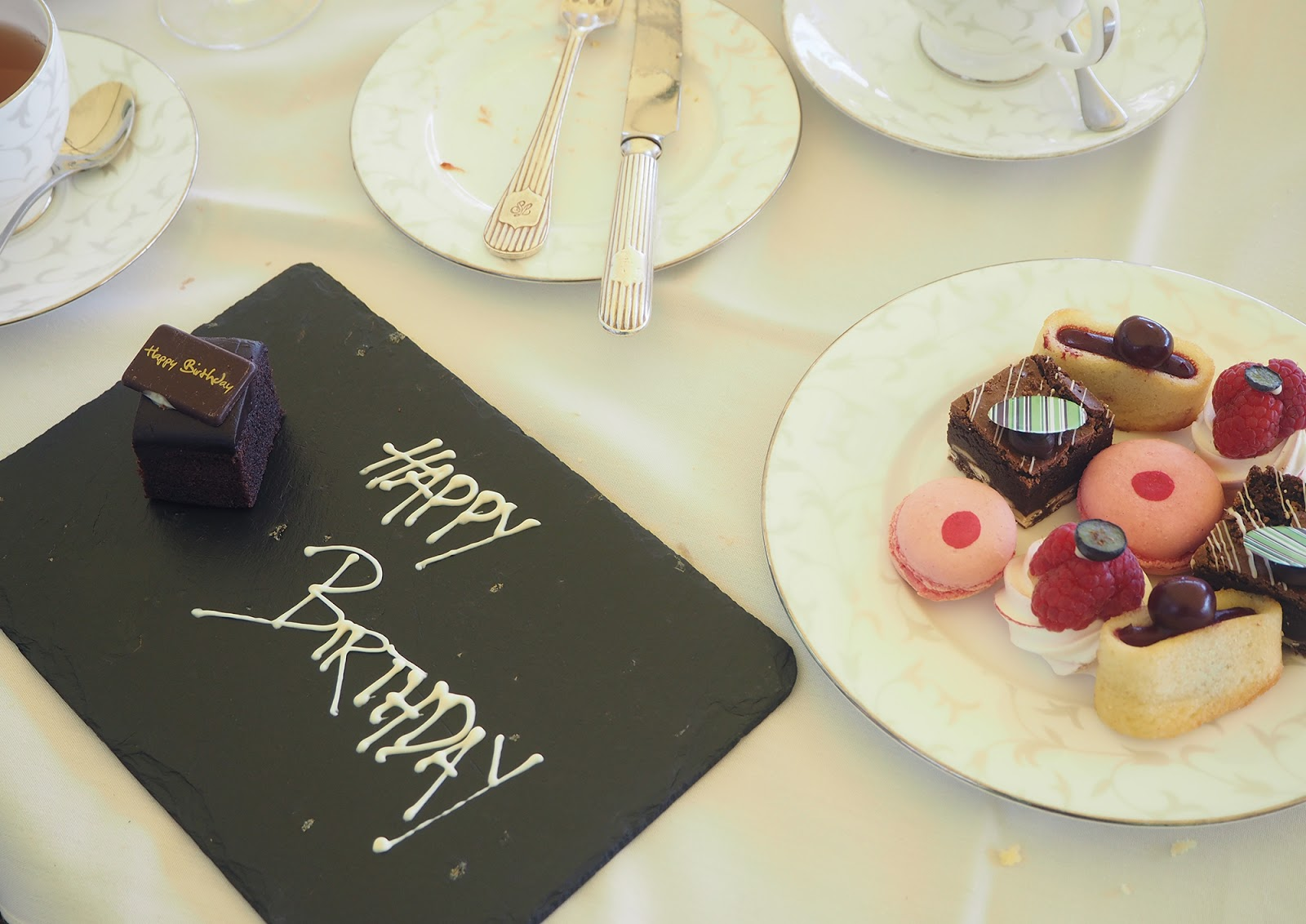 Afternoon tea review at South Lodge in Horsham - birthday cake