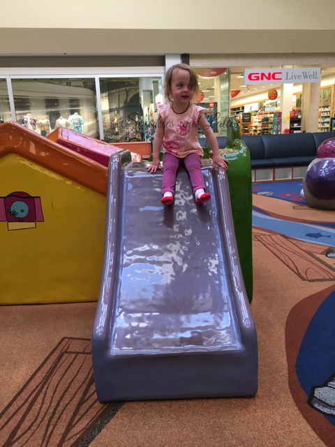 toddlers at mall playground