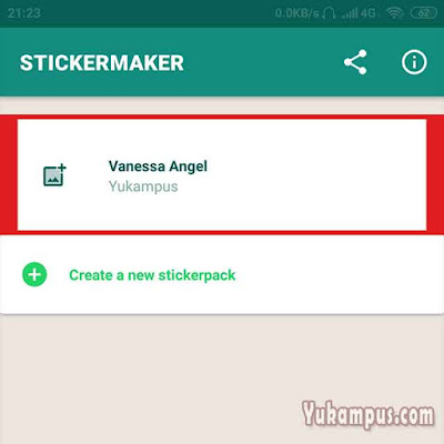 sticker maker membuat