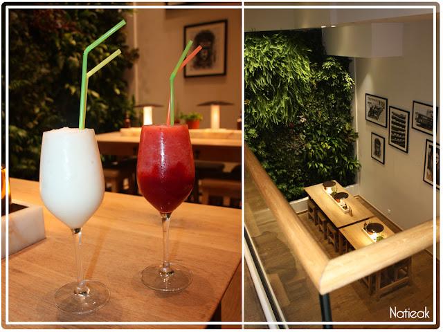 cocktail aux fruits du restaurant Vapiano des Champs -Elysées