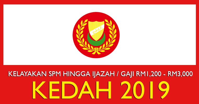 Jawatan Kosong di Negeri Kedah 2019 - Kemasukan Segera