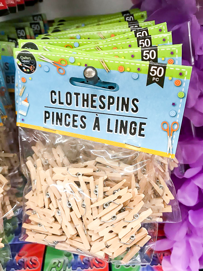 Dollar tree clothespins