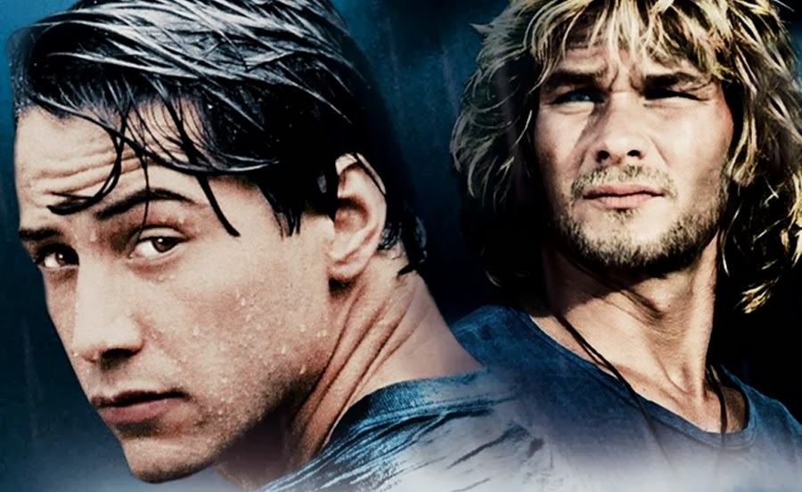 Patrick Swayze şi Keanu Reeves în filmul original din 1991 Point break