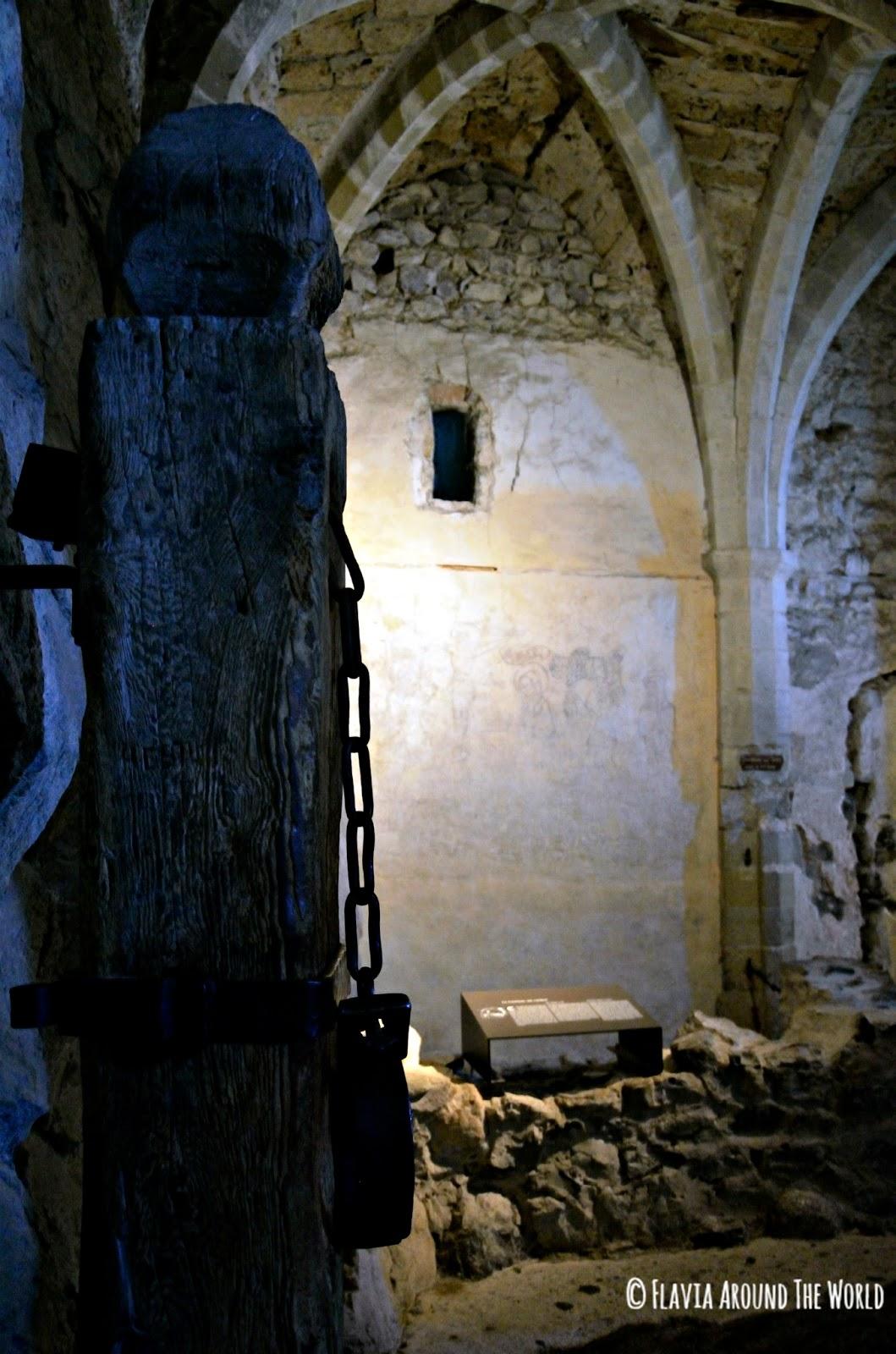 Grilletes de las mazmorras del castillo de Chillon, Suiza