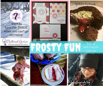 Blog With Friends, a monthly multi-blogger project based group post. January 2017 theme: Frosty Fun | Presented on www.BakingInATornado.com