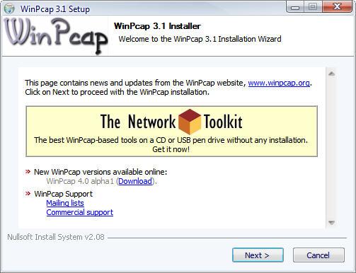 تحميل برنامج WinPcap لتحكم فى نسبة تحميل والرفع  لأى شخص مشترك معك على نفس الشبكة