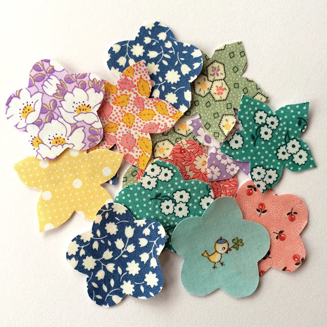 30s fabric applique flowers charm about you lucy brennan