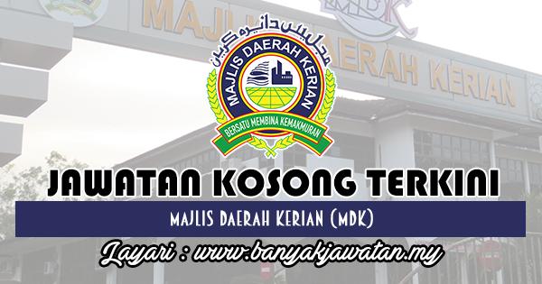 Jawatan Kosong 2018 di Majlis Daerah Kerian (MDK)