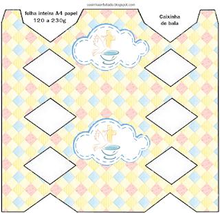 Baby Girl Baptism: Free Printable Boxes.