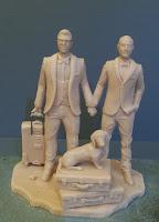 sculture per torte nuziali matrimonio gay modellini personalizzato orme magiche