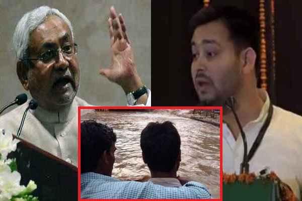 उद्घाटन से 2 दिन पहले ही टूट गया बाँध, तेजस्वी यादव ने उड़ाया नीतीश कुमार की ईमानदारी का मजाक