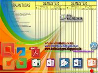 Download Contoh Format Papan Data Sekolah [Jadwal Program Kerja Tahunan]