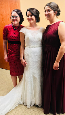 Bride, maid of honor and personal attendant.