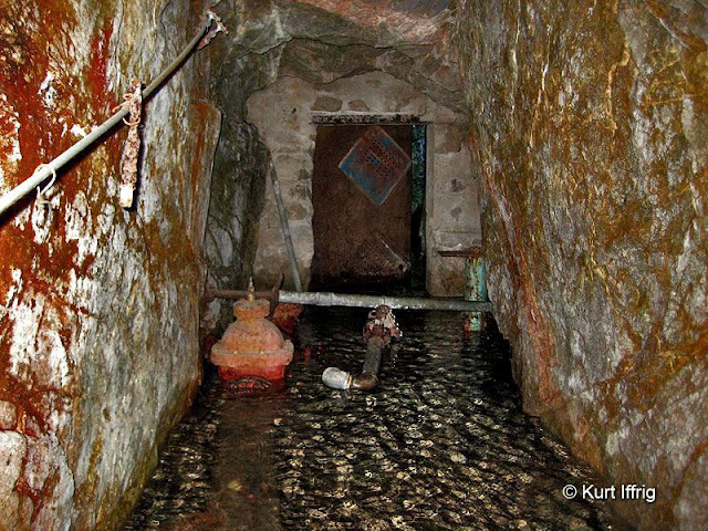 Inside Las Flores Canyon's Tunnel 8. This mine once supplied Altadena homes with water.