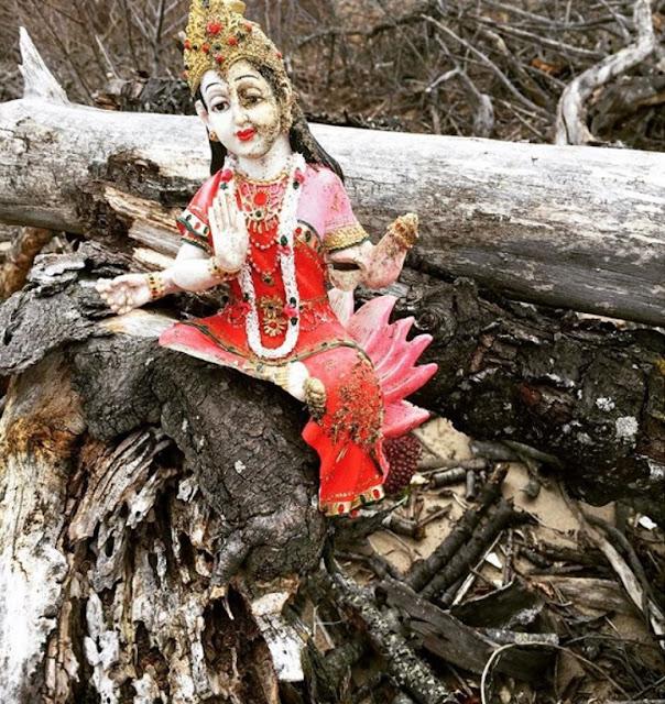 Estátua deusa Lakshmi em Brooklyn, Nova York