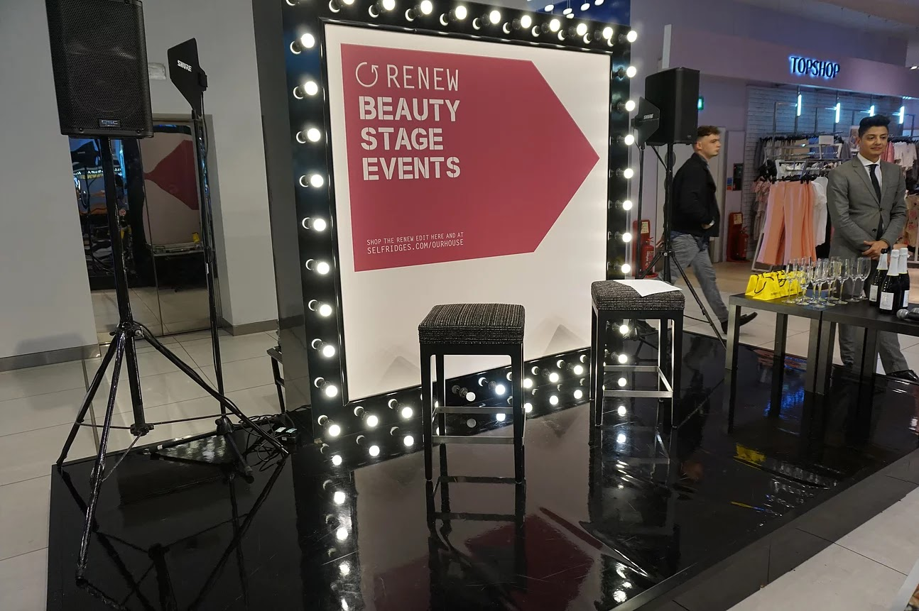 Selfridges Birmingham beauty stage