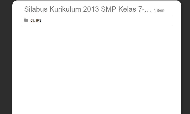 Silabus Kurikulum 2013 SMP Kelas 7-8-9 IPS Lengkap Revisi Terbaru