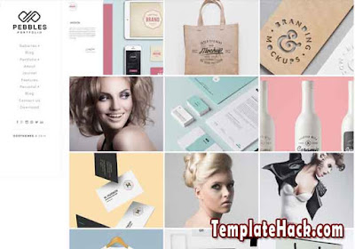 pebbles portfolio blogger template