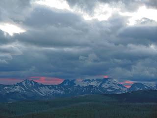 Sunset over the Livingstone Range, from Granite Park Chalet, Glacier National Park, Montana