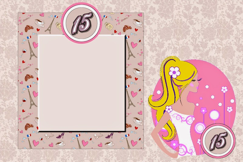 Blondie Quinceanera: Free Printable Invitations, Labels or Cards.