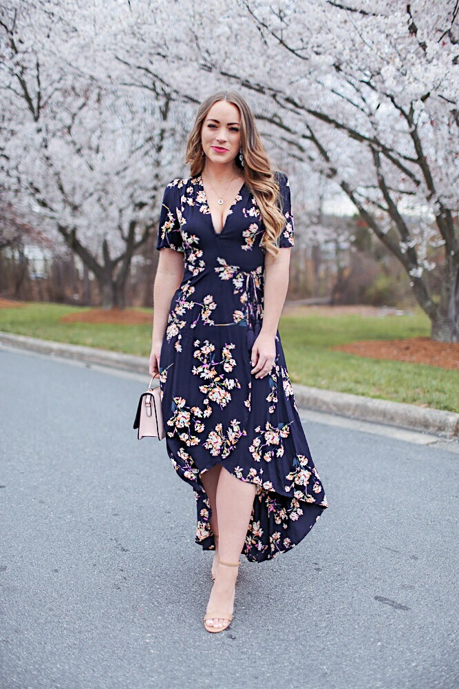 Floral Wrap Dress Flattering for All Sizes!
