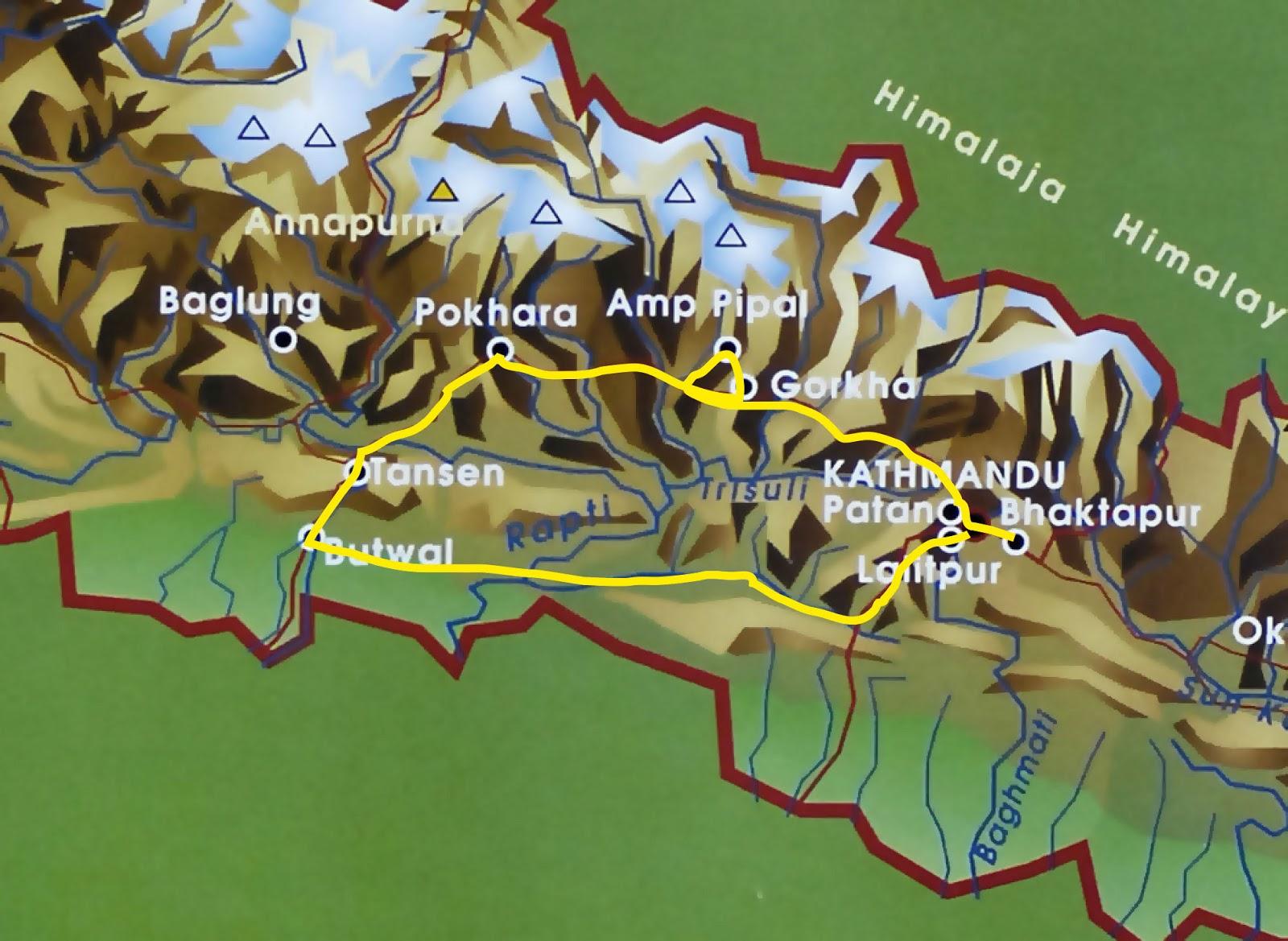 Nepalin Kartta Nepalin Kuvia