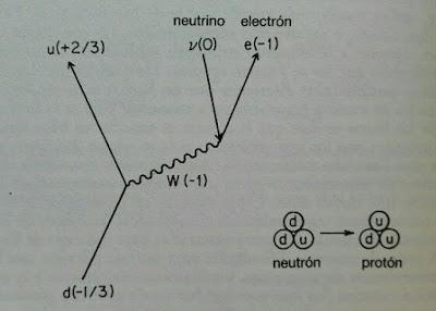 Diagrama de Feynman de la desintegración beta