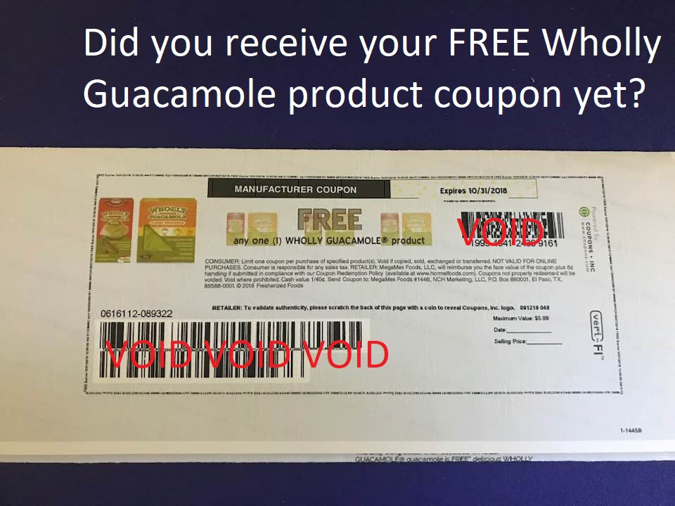 Manufacturer Coupons Mail >> Got My Free Wholly Guacamole Coupon In The Mail Deals And To Dos