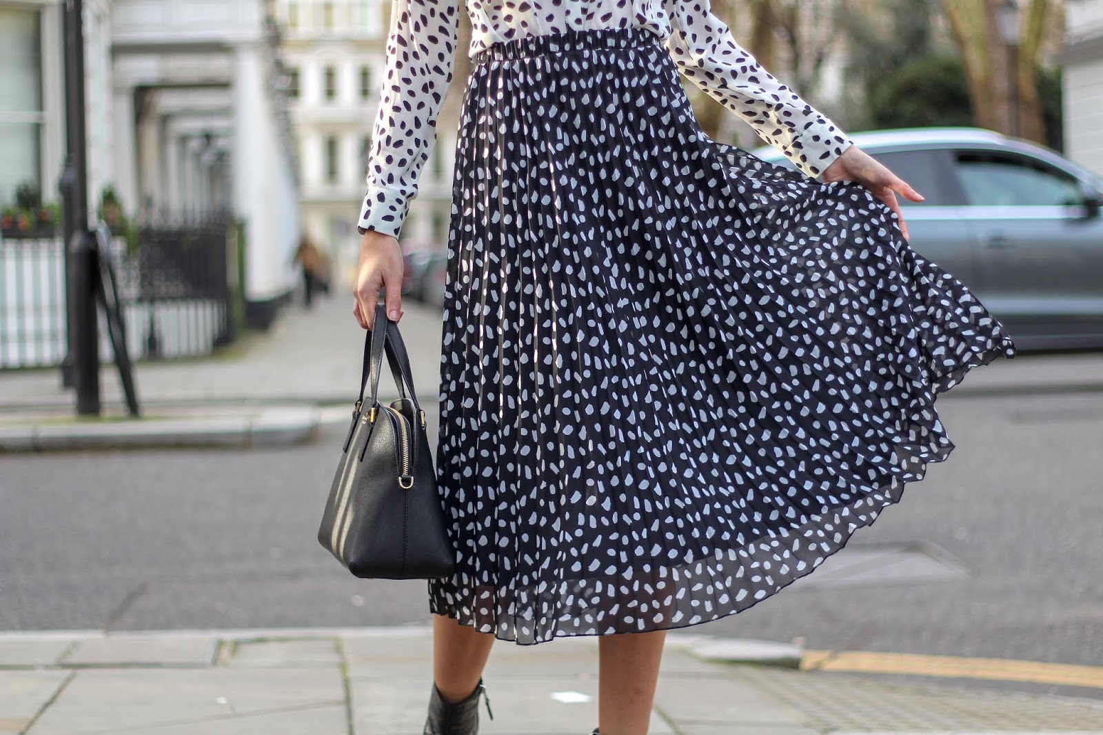 primark pleated midi skirt