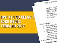 RPP K13 SD Kelas 1 Edisi Revisi Terbaru 2017
