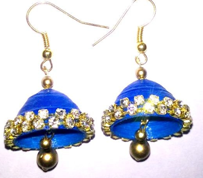 15 Trendy Quilling Earring Jhumka Designs 2015
