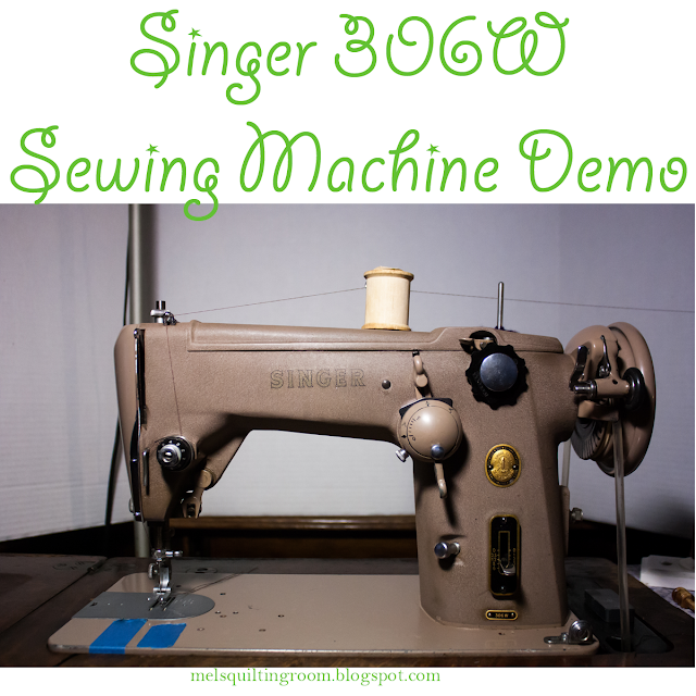 Singer 306W Sewing Machine Demonstration Video