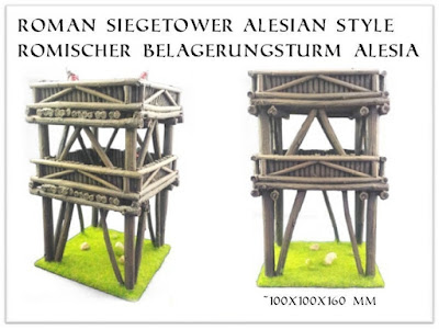 Alesia watchtower resin casted, kit, 28mm scale (30 EUR)