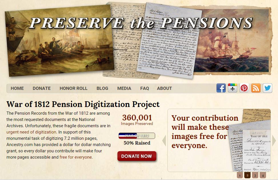 UpFront with NGS FREE War of 1812 Pension Access -- Have you - support ancestry com