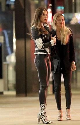 Lovely Ladies In Leather Ruby Mae In Leather Look Leggings