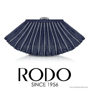 Princess Madeleine style RODO Satin Evening Clutch
