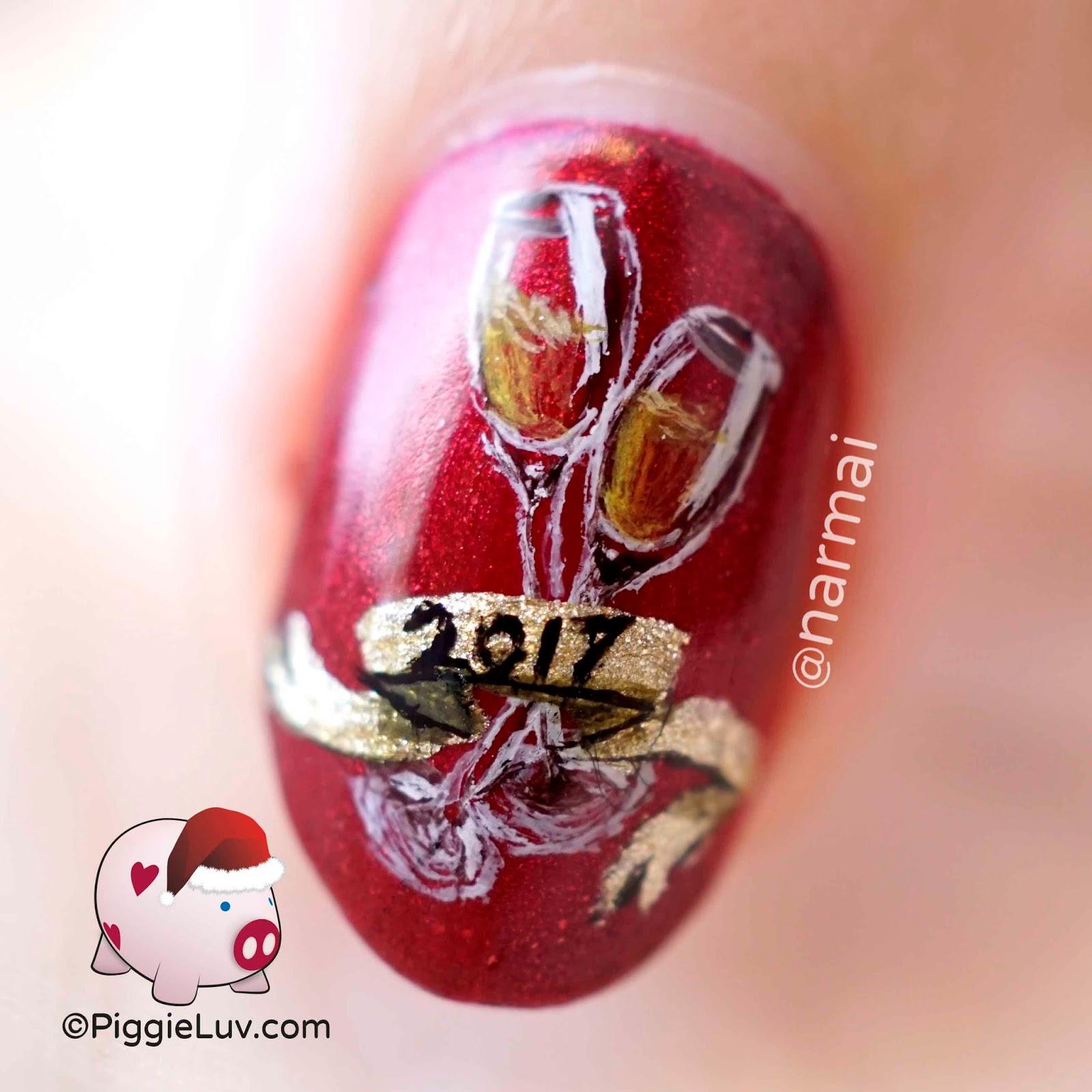 PiggieLuv: 2017 New Year\'s nail art