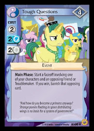 MLP Tough Questions Friends Forever CCG Card
