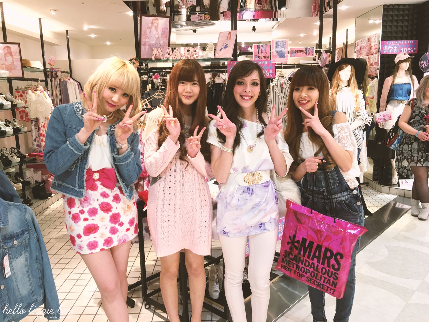 Shibuya 109 MA*RS shop staff, japan haul, gyaru