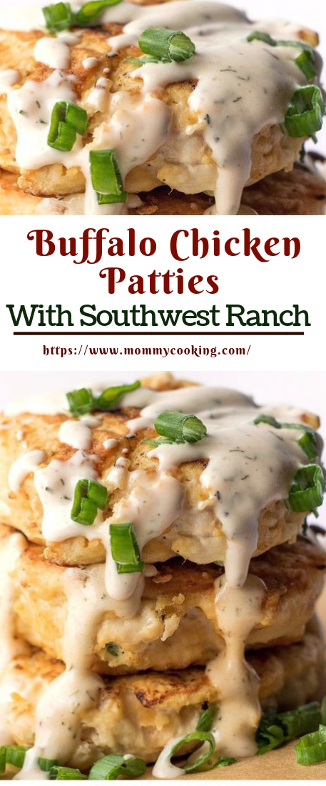 Buffalo Chicken Patties With Southwest Ranch #healthy #buffalochicken